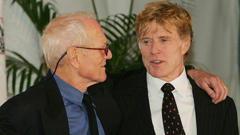 Con Paul Newman en una fiesta benéfica en 2004. (EFE)
