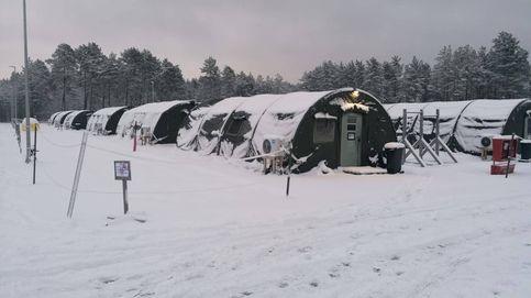 Comida helada, hacinados... La cuarentena de soldados españoles en Letonia a -15 grados