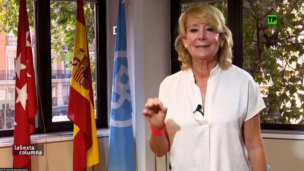 Foto: Esperanza Aguirre para 'La sexta columna'. (Atresmedia Televisión)