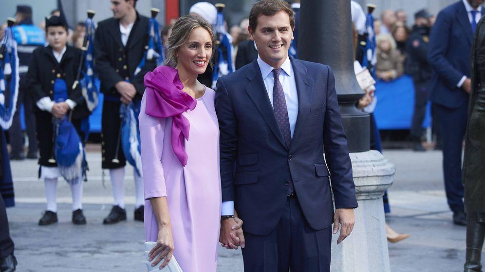 Foto: Beatriz Tajuelo y Albert Rivera, en los Princesa de Asturias. (Getty)