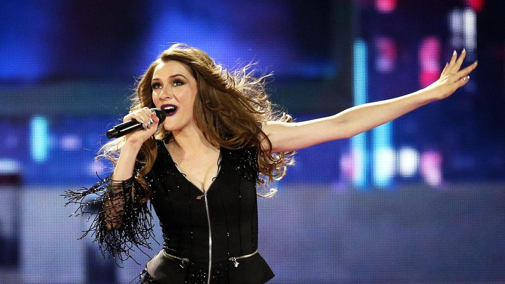 Foto: La representante de Macedonia durante su actuación en la semifinal de Eurovisión. (EFE)