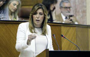 Accidentada visita de Susana Díaz a Marbella: un policía herido por evitar los abucheos