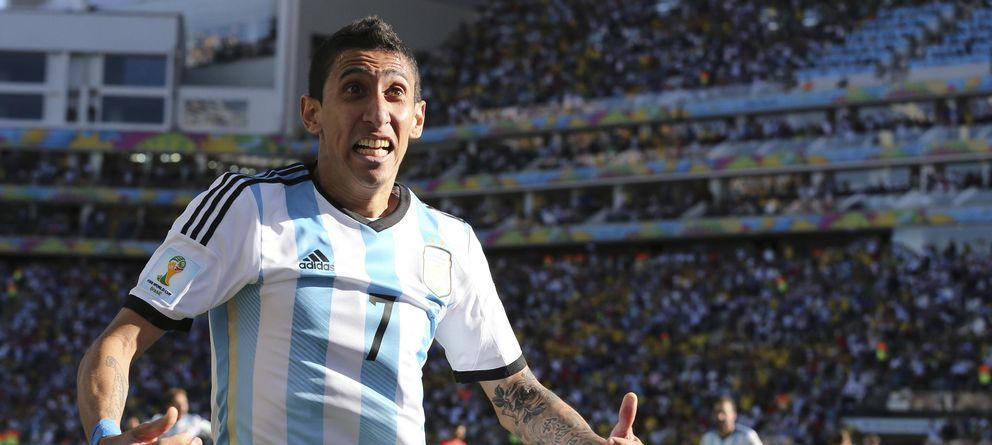 Foto: Di María celebra el gol que supuso el triunfo de Argentina sobre Suiza.