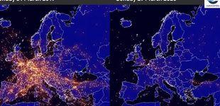 Post de Así afecta al tráfico aéreo el coronavirus: vídeo del antes y el después