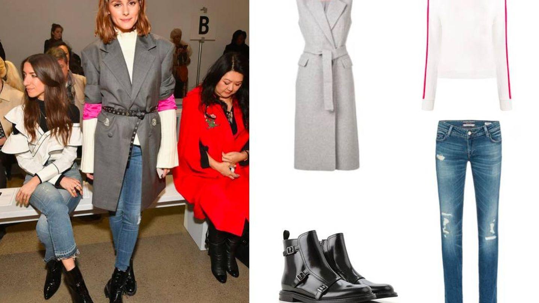 Ella es única creando outfits working, copia el último de Olivia Palermo.  (Pinterest)