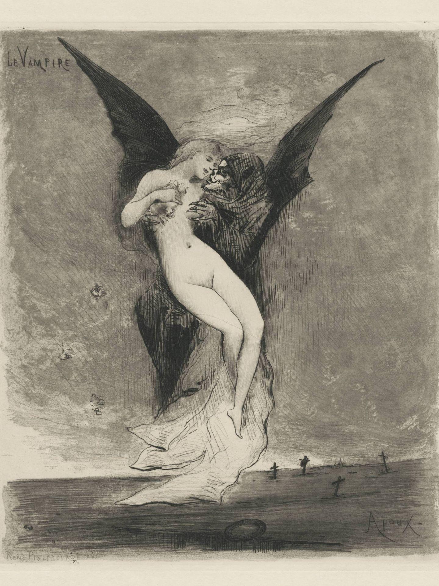 'Le Vampire' (1890), de Joseph Apoux. (CaixaForum)