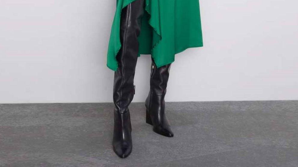 Estas botas de Zara combinan, y elevan, cualquier otra prenda que uses