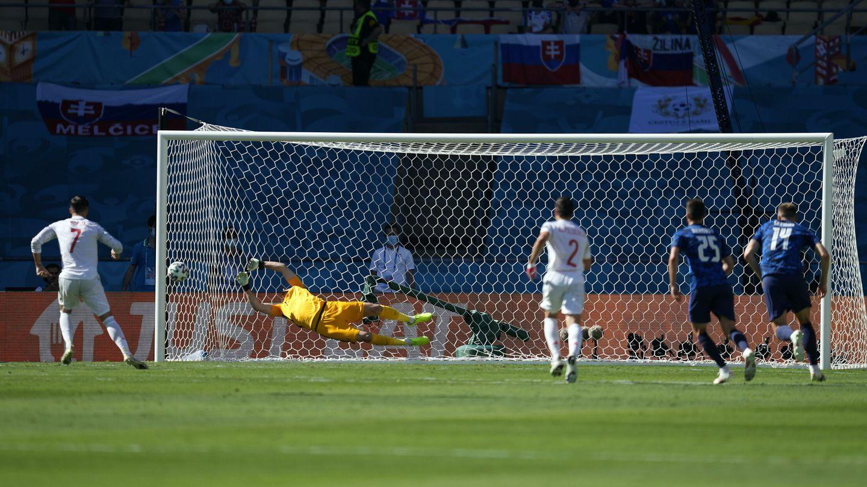 Morata falló frente a Eslovaquia. (EFE)