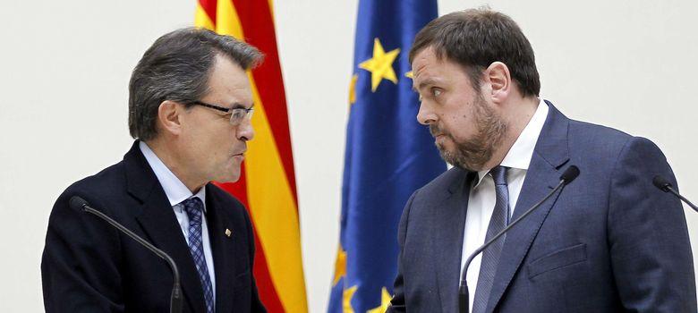Foto: Artur Mas y Oriol Junqueras (EFE)