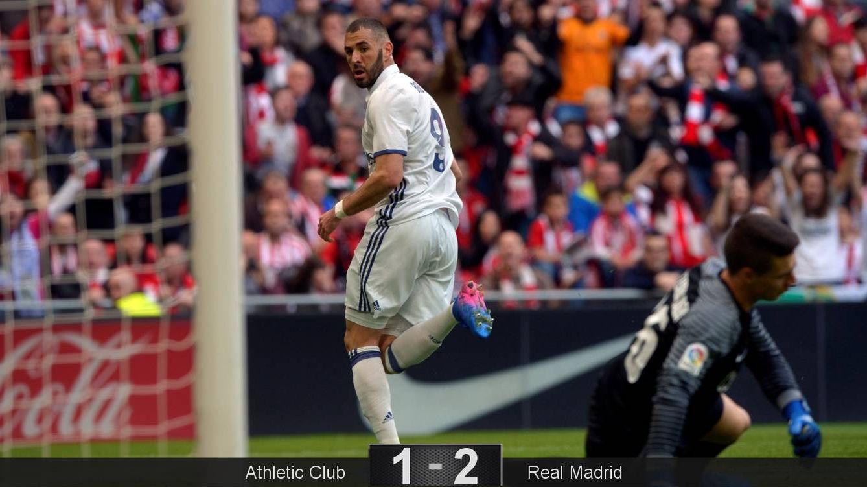 Foto: Benzema celebra un gol. (Reuters)