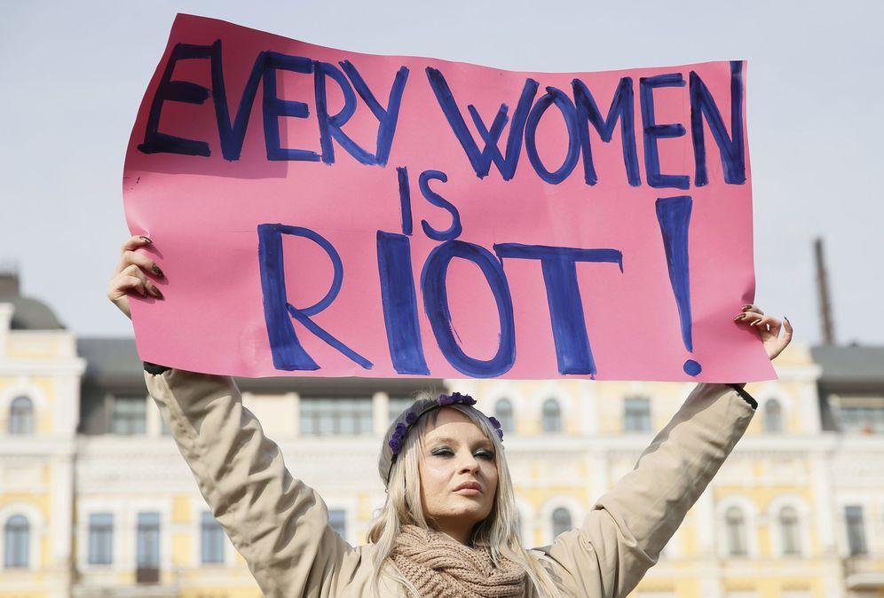 Foto: Día de la Mujer en Kiev. (Ucrania)