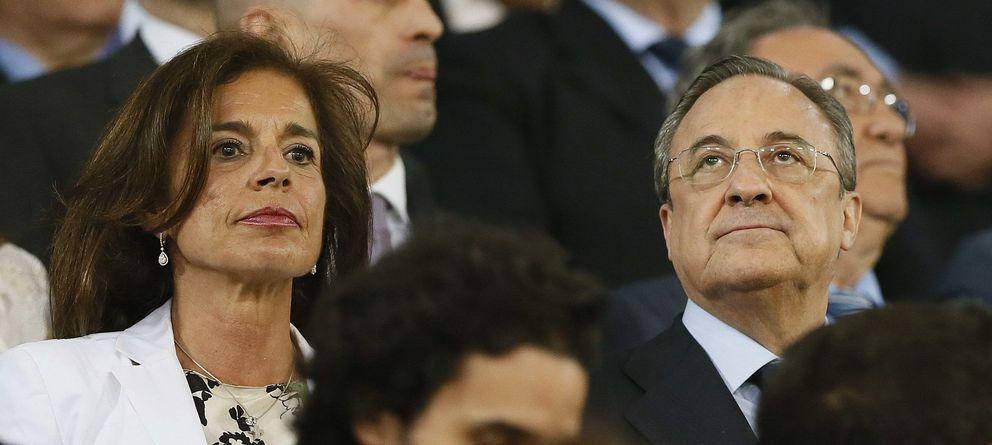 Foto: Florentino Pérez, junto a la alcaldesa de Madrid, Ana Botella