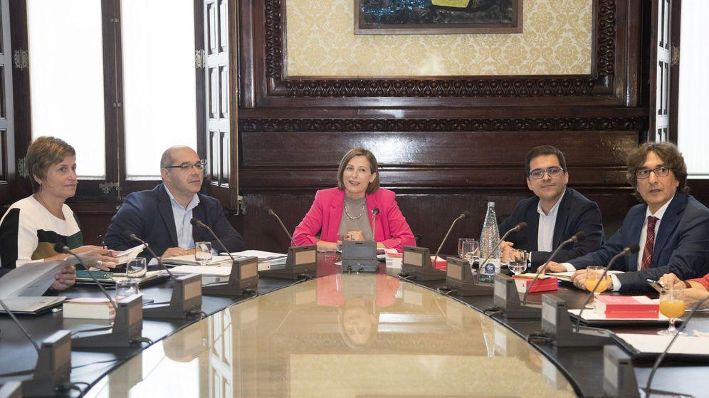 Foto: Reunión de la Mesa del Parlament. (EFE)