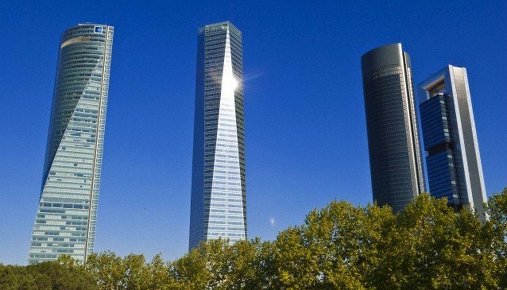 Foto: Las cuatro torres de Madrid. (Corbis)