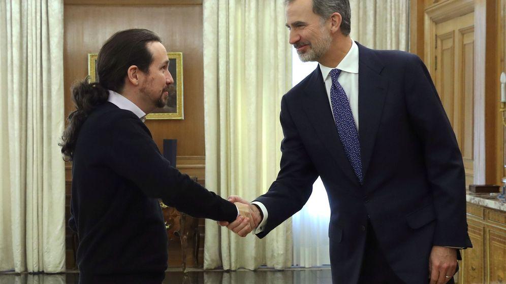 Foto: El rey Felipe VI recibe en audiencia al líder de Unidas Podemos. (EFE)