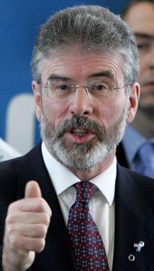 Gerry Adams envió a la ministra de Educación del Sinn Fein a la última reunión Gobierno-ETA