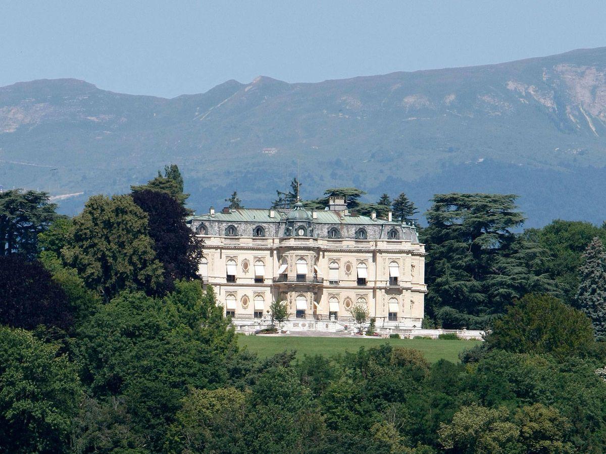 Foto: Vista del Château de Pregny, de la familia Rothschild. (AL)