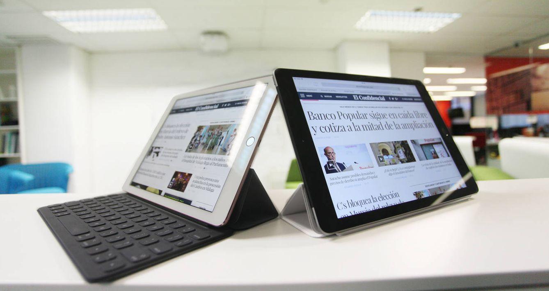 Foto: iPad Pro (i) y el nuevo iPad. ((Enrique Villarino)