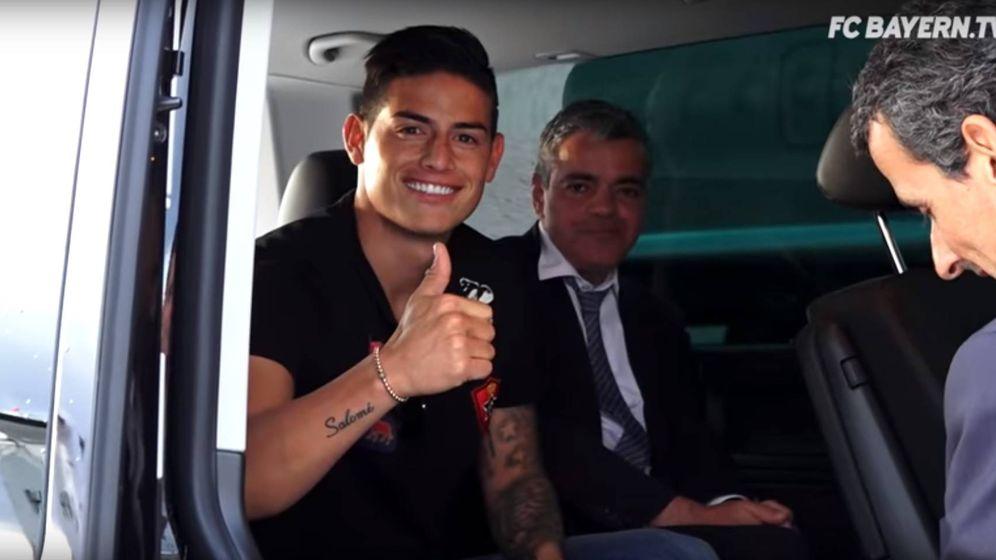 Foto: James Rodríguez, junto al abogado portugués Carlos Osório de Castro. (YouTube)