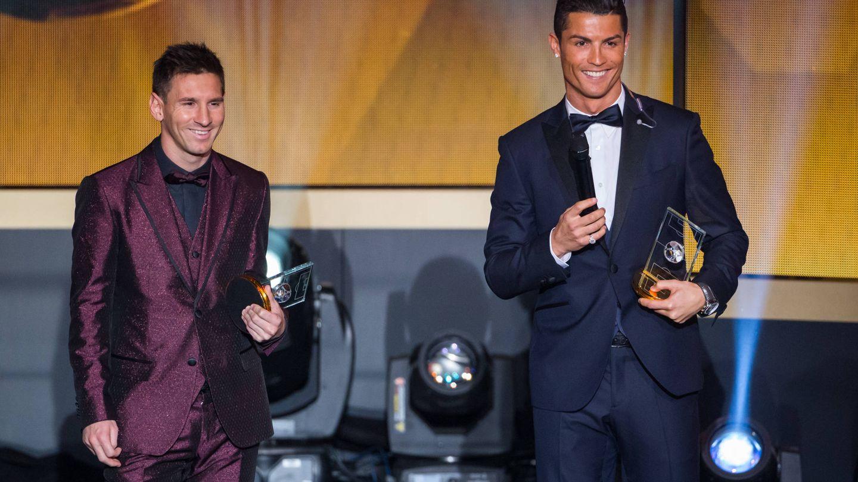 Leo Messi y Cristiano Ronaldo. (Getty)