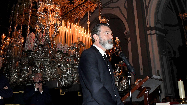 Antonio Banderas, en la Semana Santa malagueña de 2017. (Gtres)