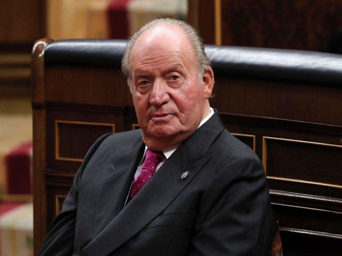 Foto: El rey Juan Carlos, en el Congreso en 2018. (EFE)