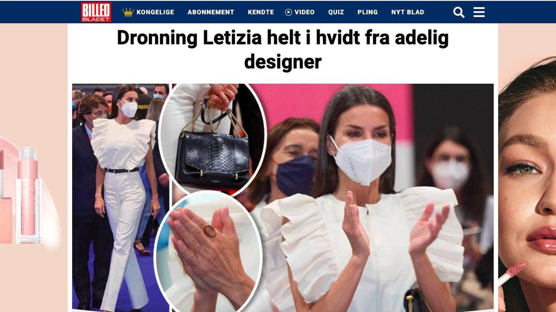 El estreno de Letizia en la danesa 'Billed Bladet'.