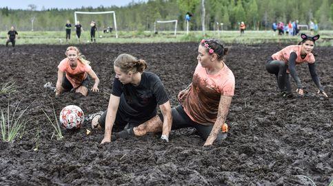 Fútbol en pantano en Finlandia