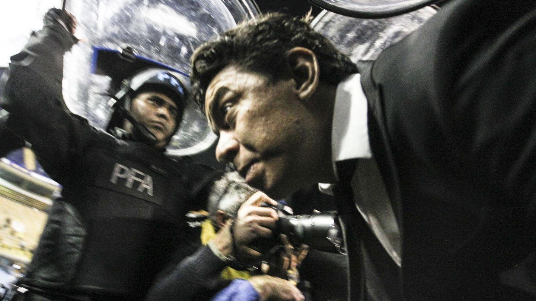 Gallardo, el día del Superclásico de los gases lacrimógenos. (EFE)