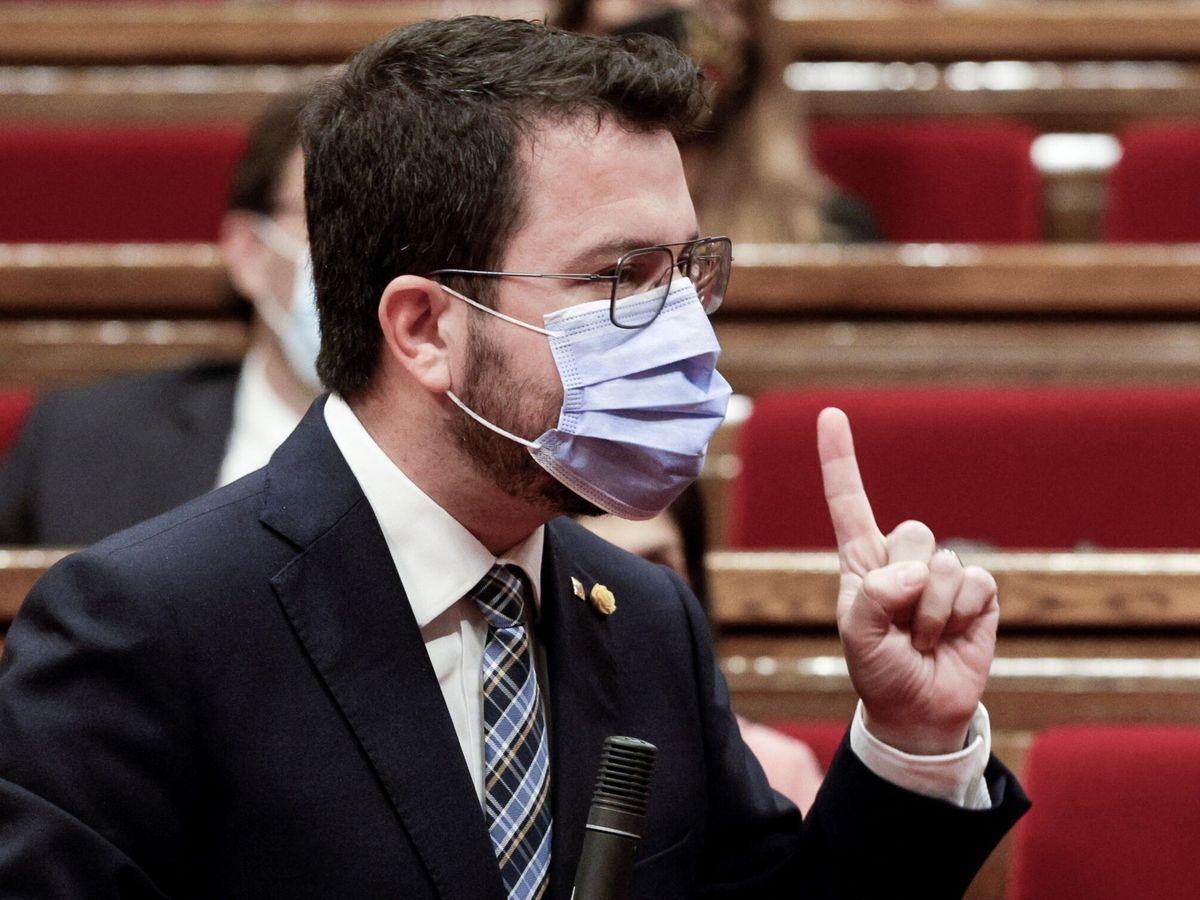 Foto: El presidente de la Generalitat, Pere Aragonès (i). (EFE)