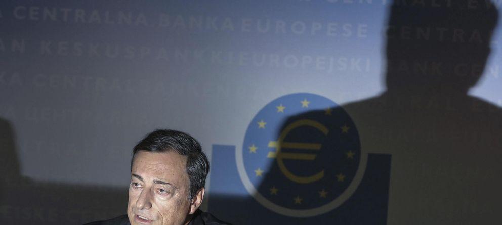 Foto: El presidente del BCE, Mario Draghi, durante la rueda de prensa que ofreció ayer en la sede del BCE en Fráncfort.