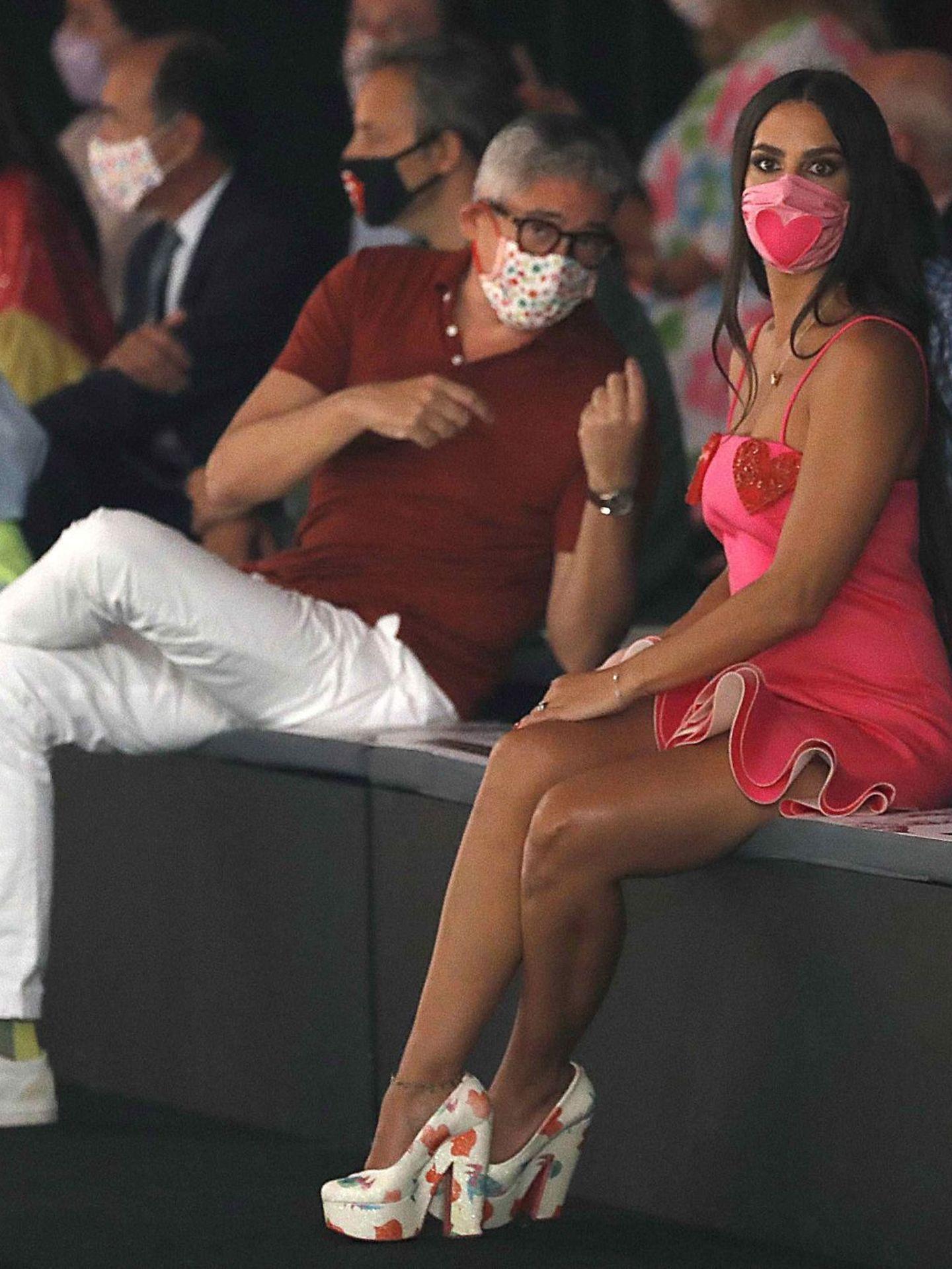 Boris Izaguirre y Cristina Pedroche, en el desfile de Agatha Ruiz de la Prada. (EFE)