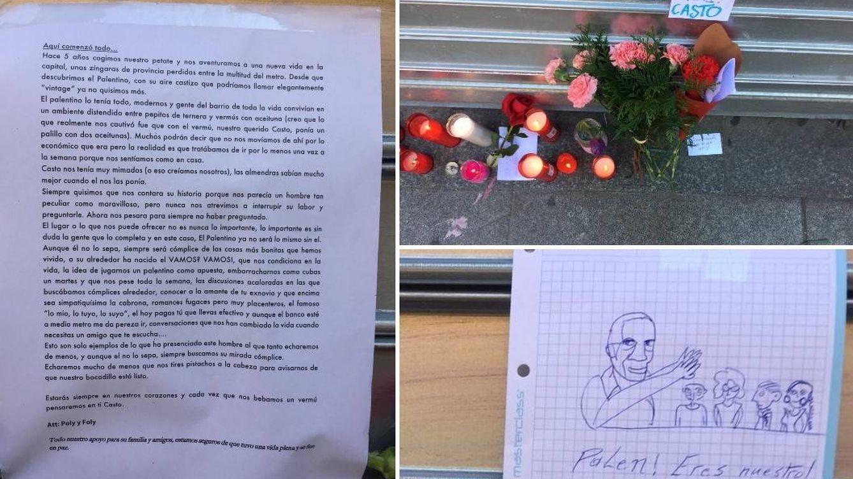 """""""Pensaremos en ti con cada vermú"""": los homenajes a Casto abundan en El Palentino"""