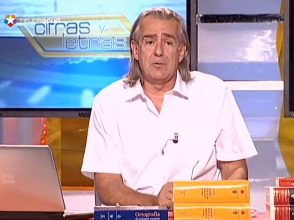 Foto: Antonio Elegido, el profesor de 'Cifras y letras'. (Telemarid)