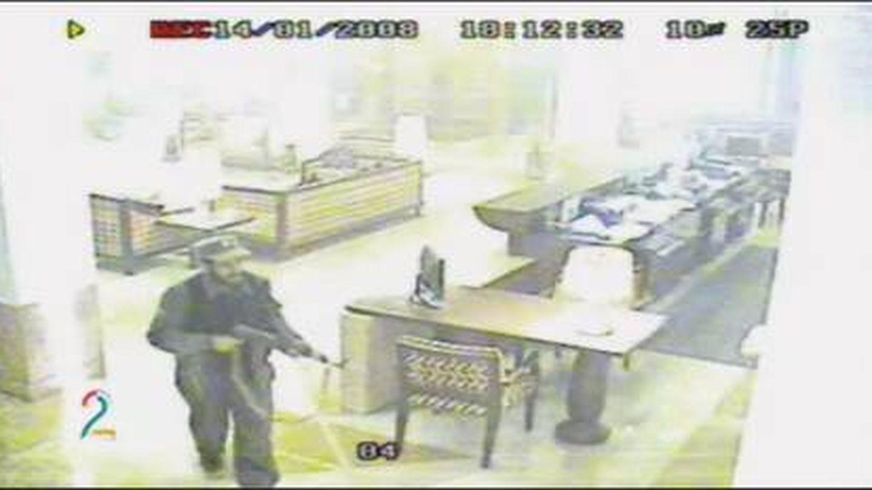 Imagen de las cámaras de vigilancia del hotel Serena durante el ataque de 2008.