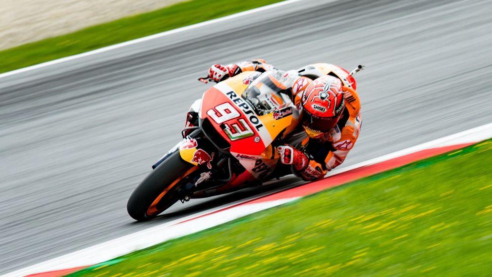 Foto: Márquez fue el más rápido este sábado en Austria. (EFE)