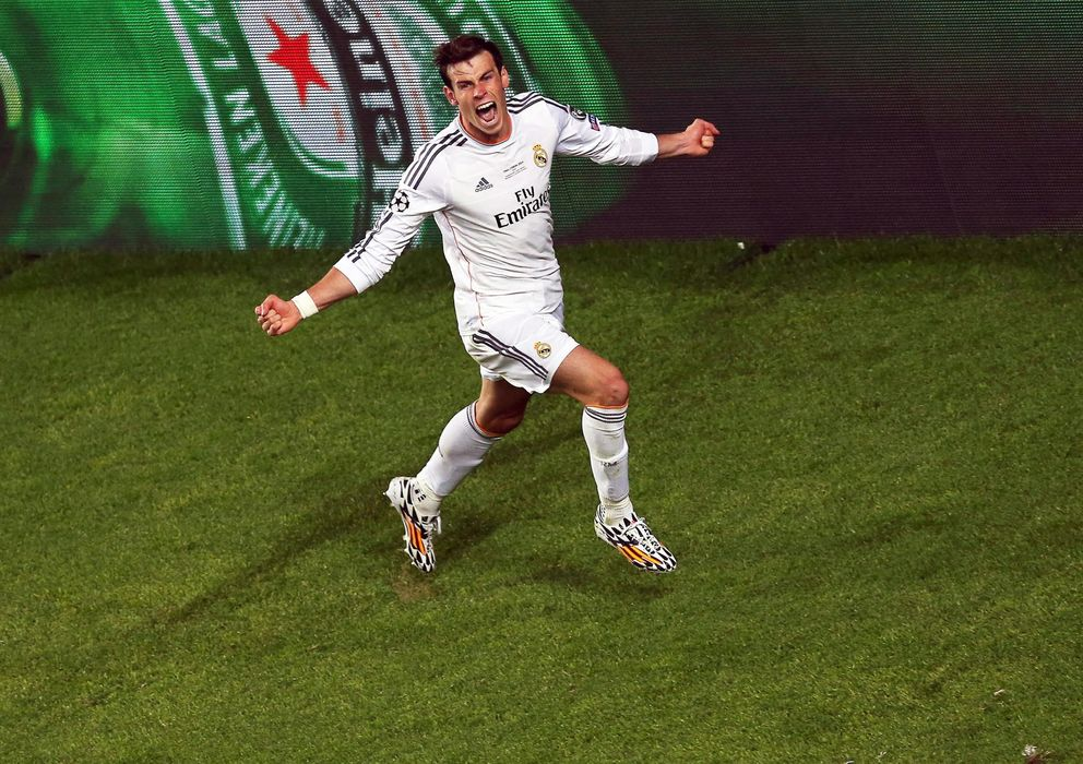 Foto: Gareth Bale se lanzó a la carrera para celebrar el 2-1 para el Real Madrid.