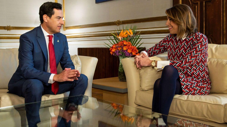 Susana Díaz y Juanma Moreno Bonilla. (EFE)
