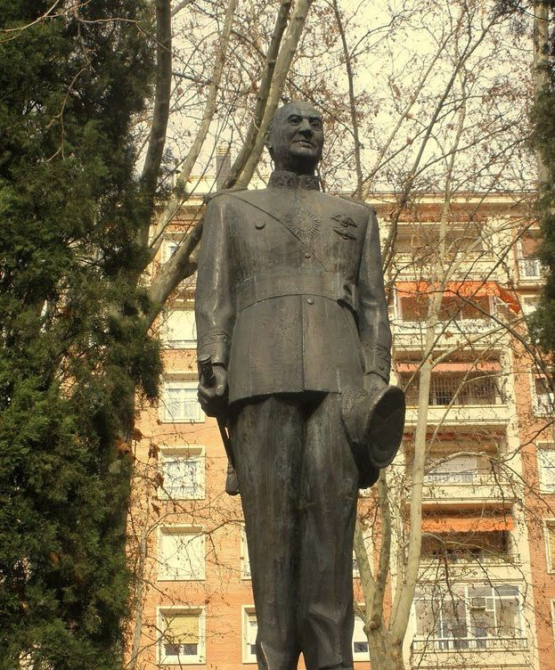 Foto: Estatua de Juan Domingo Perón en Madrid. (EC)