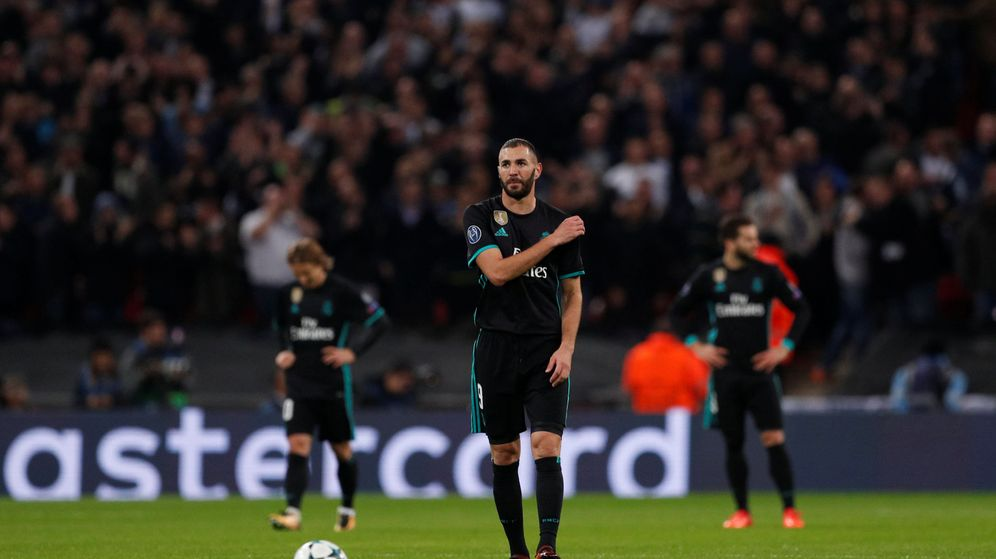 Foto: Benzema, este miércoles por la noche en Wembley. (Reuters)