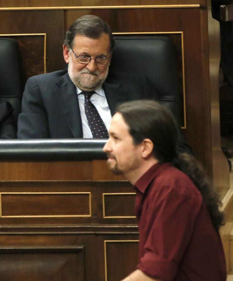 Foto: Rajoy e Iglesias en el Congreso de los Diputados. (EFE)