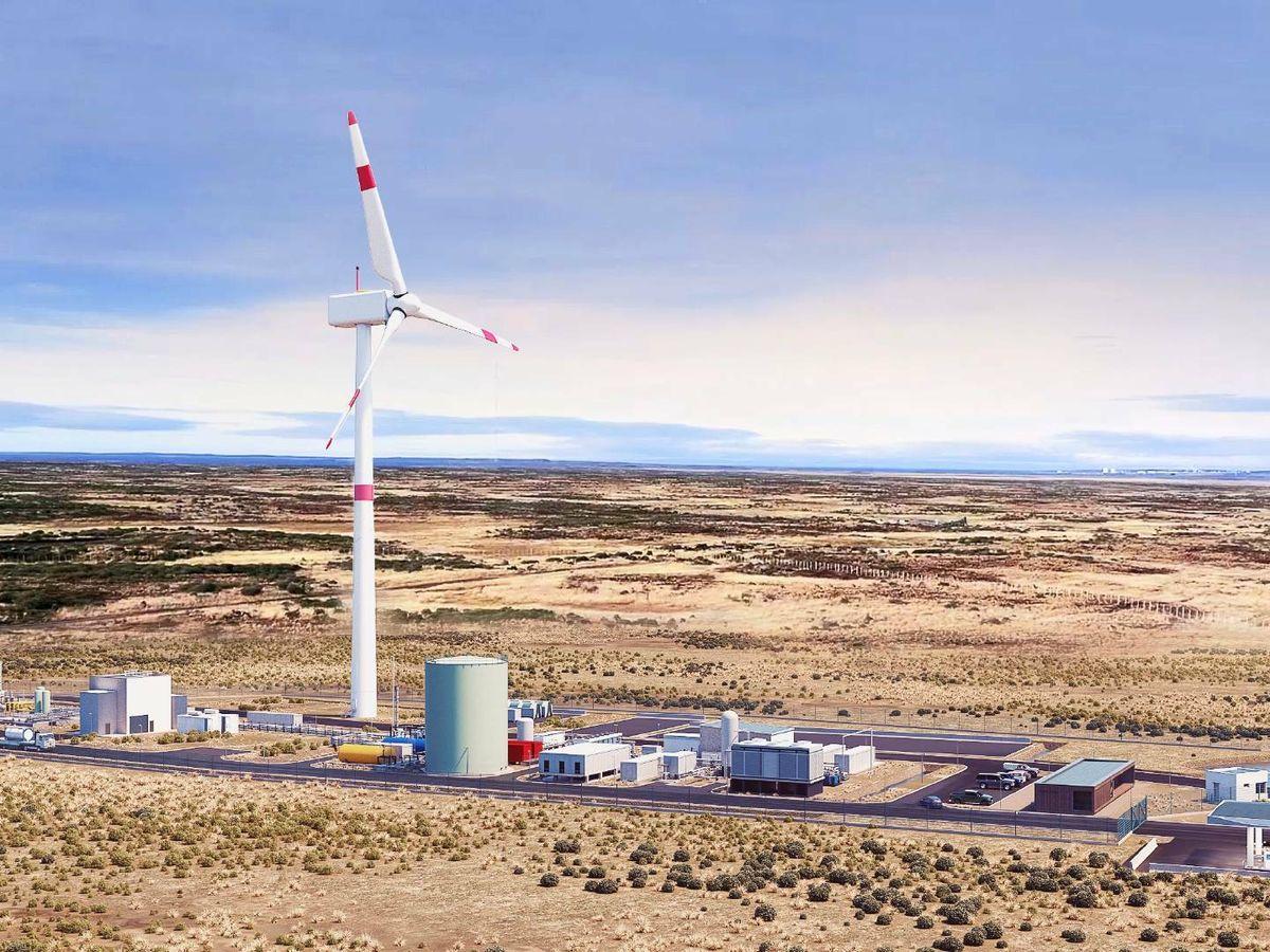 Foto: La nueva fábrica de 'e-fuels' está situada en Punta Arenas, en el sur de Chile.