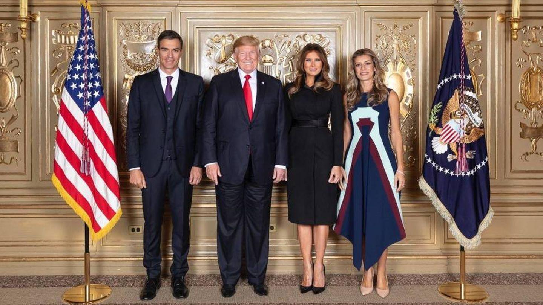 Los Trump y los Sánchez, en septiembre de 2018. (Oficial)