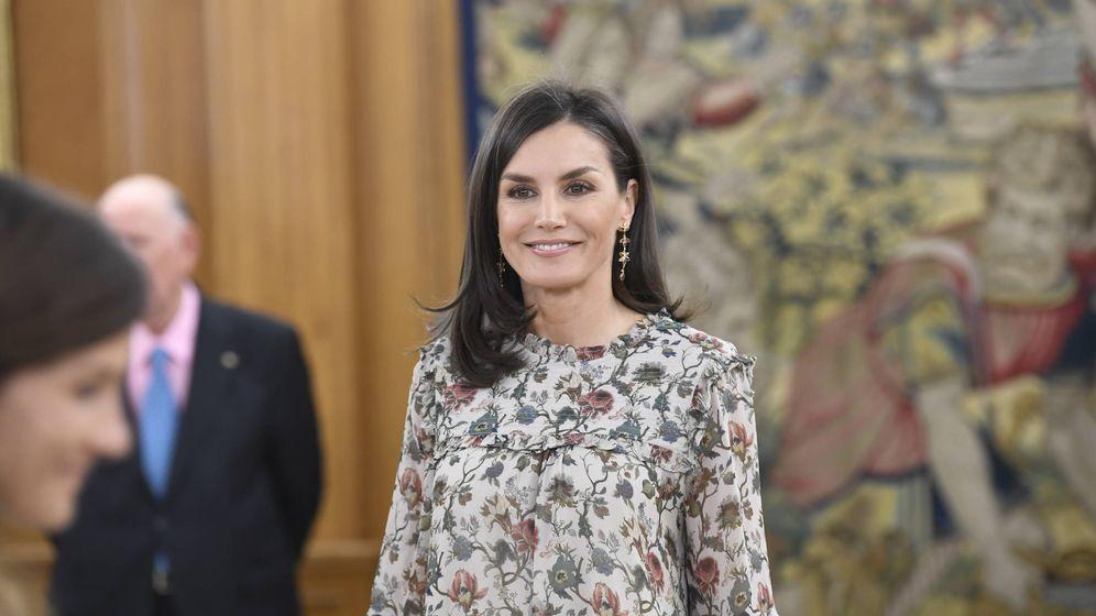 Foto: La reina Letizia, durante las audiencias de esta mañana. (Limited Pictures)