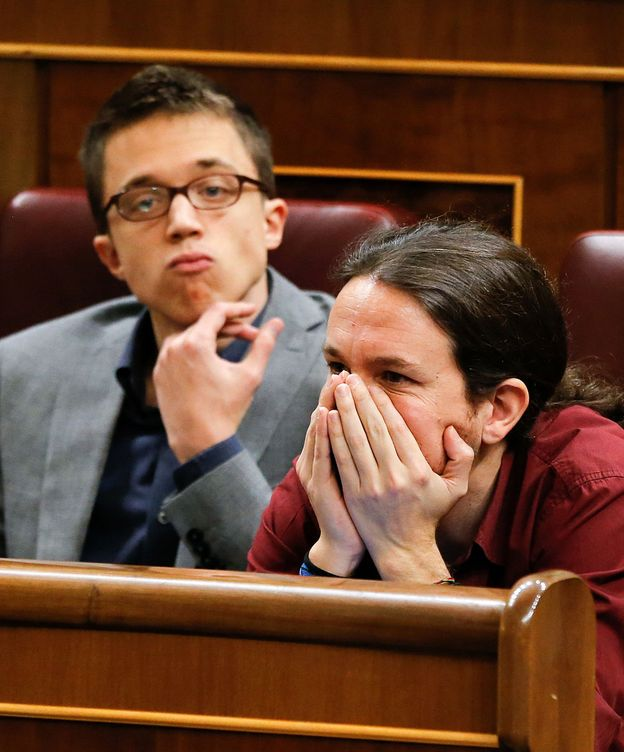 Foto: Iglesias e Íñigo Errejón (i), durante la no investidura de Pedro Sánchez.