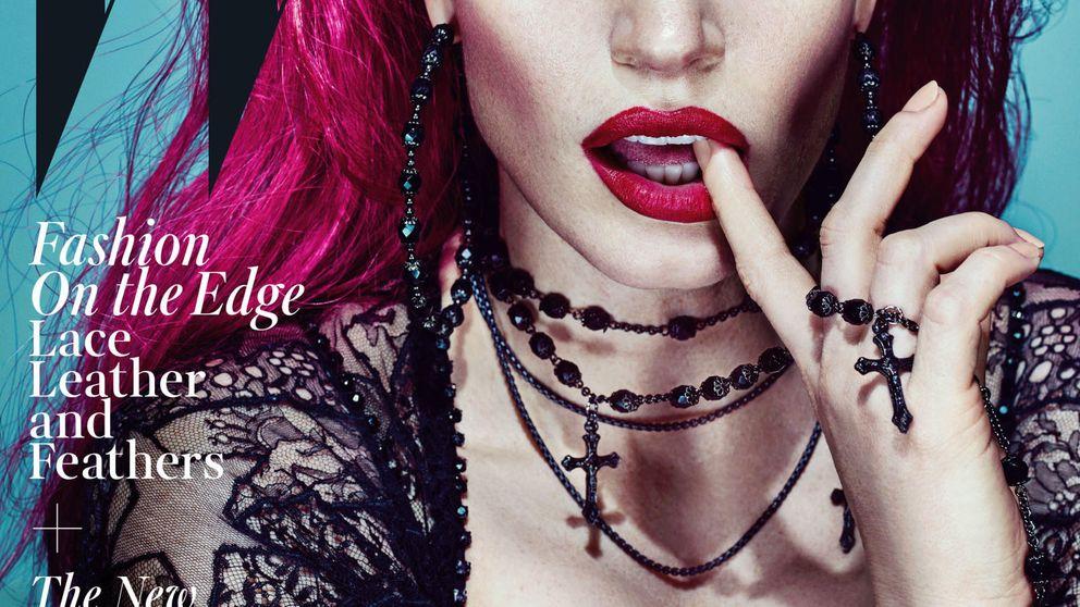 Jessica Chastain, irreconocible y presumiendo de escote para la revista 'W Magazine'
