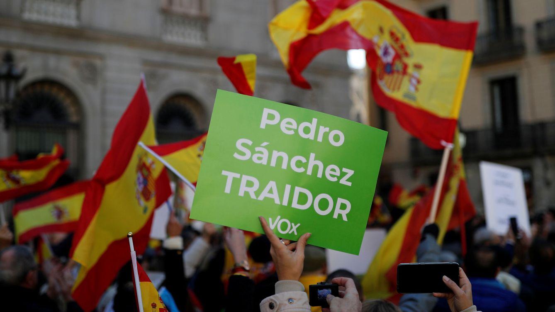 Foto: Manifestación de Vox en Barcelona. (EFE)