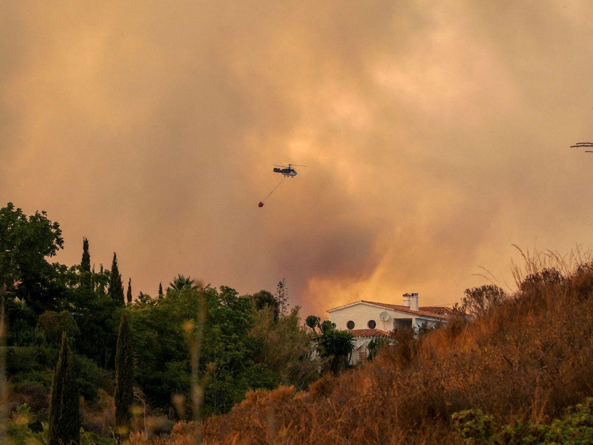 Foto: Incendio en Sierra Bermeja. (EFE)