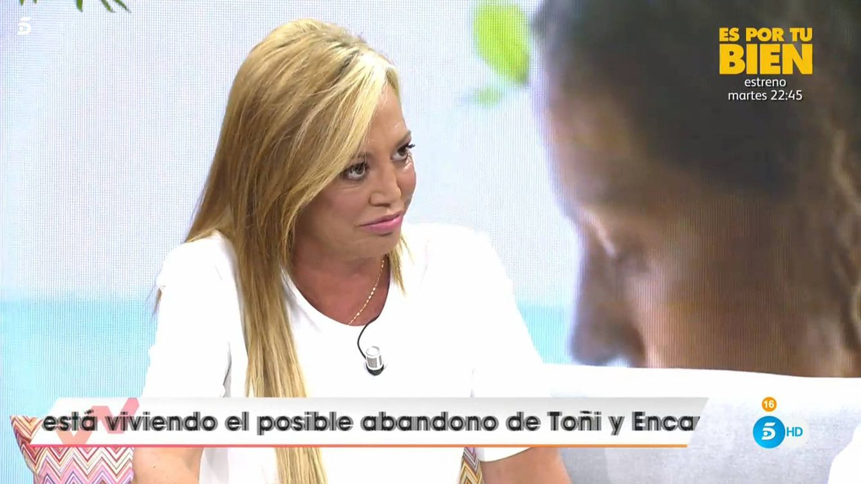 Diego Arrabal recibe a Belén Esteban con una pullita en el programa de Emma García
