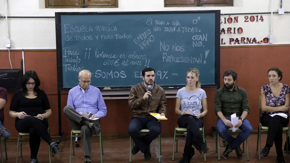 Foto: Alberto Garzón, presentando las propuestas socioeconómicas de su programa, este 29 de octubre en el Instituto Cervantes de Madrid. (EFE)